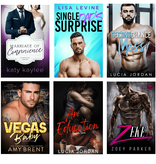 List of six free romance books to read online.
