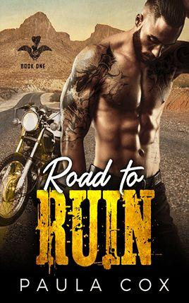 Road to Ruin by author Paula Cox. Book One cover.