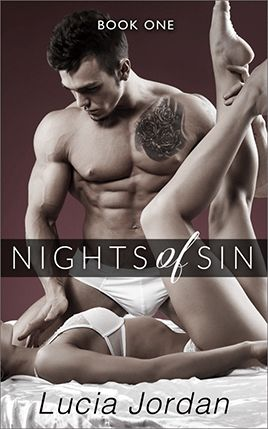 Nights of Sin by author Lucia Jordan. Book One cover.